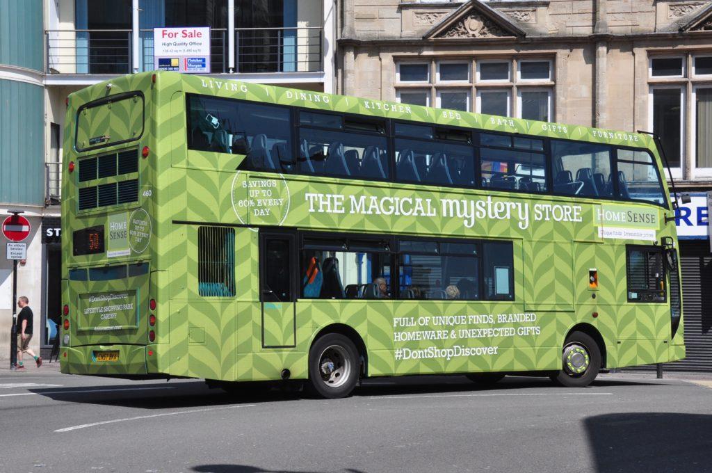 Wrapped Bus Homesense Cardiff
