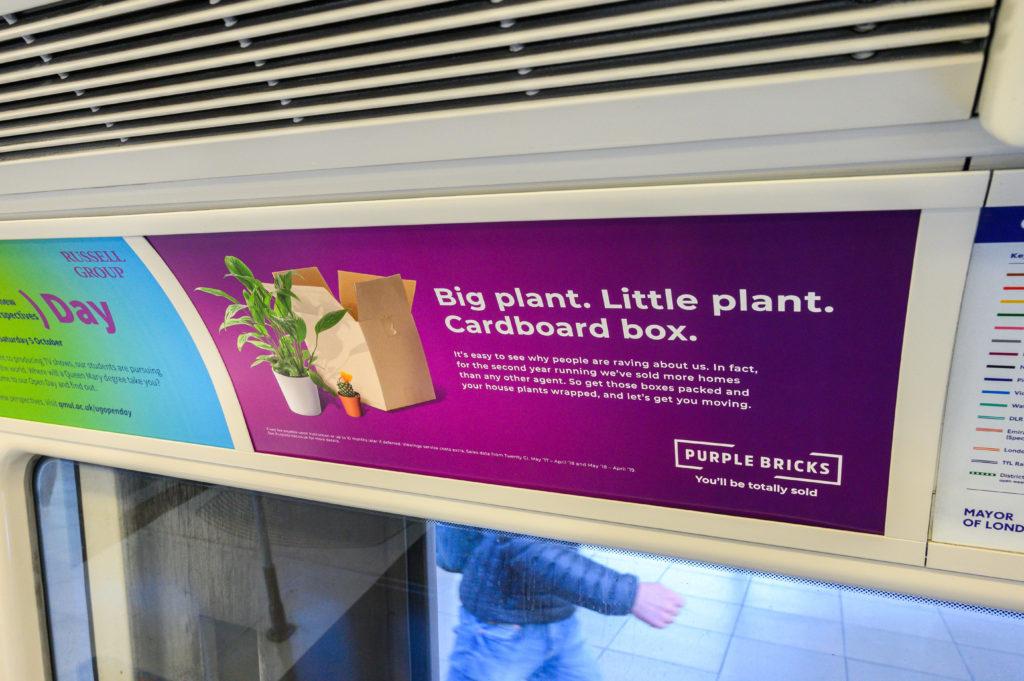 Purple Bricks TCP London Underground campaign - Global