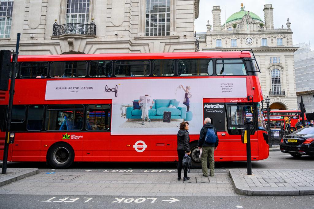 Mega T-Side London Bus Loaf campaign - global